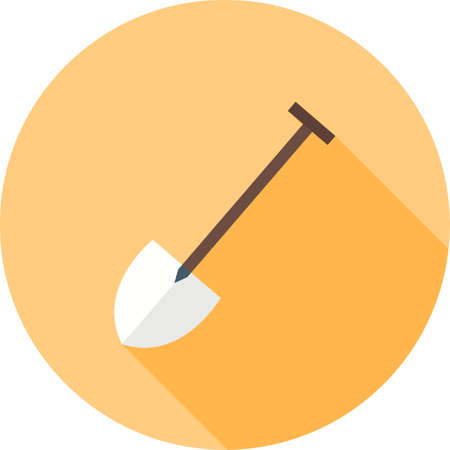 hand shovels: Shovel, tool, hand icon vector image.Can also be used for gardening. Suitable for mobile apps, web apps and print media. Illustration