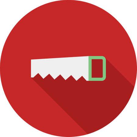 serrucho: Carpintero, sierra de mano, vio icono vector image.Can tambi�n ser utilizado para la jardiner�a. Adecuado para aplicaciones m�viles, aplicaciones web y medios impresos. Vectores