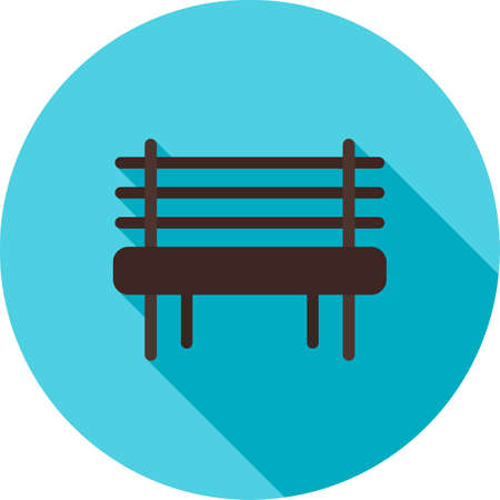 garden bench: Garden, bench, outdoor icon vector image.Can also be used for gardening. Suitable for mobile apps, web apps and print media.