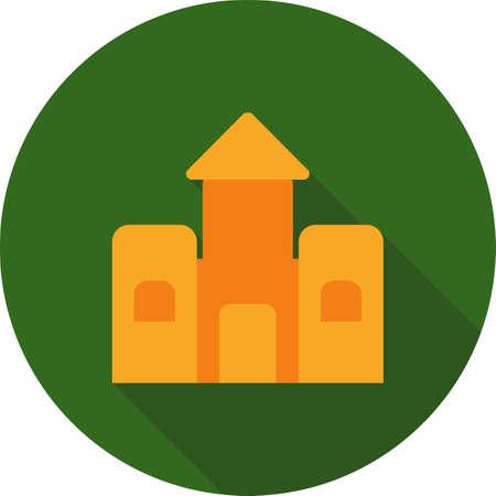 brincolin: Castillo, de saltos, saltando icono de vector también image.Can utilizarse para juguetes y juegos. Adecuado para aplicaciones móviles, aplicaciones web y medios impresos.