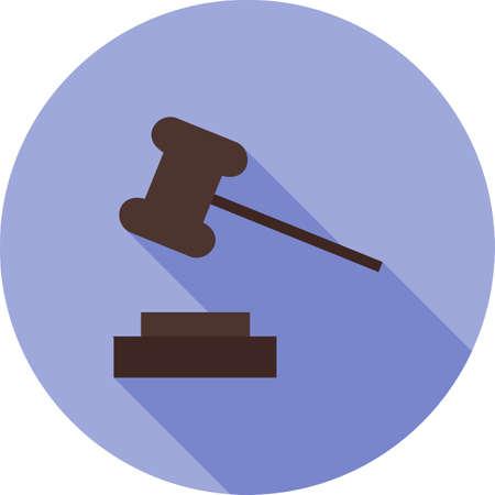 mandato judicial: Orden, corte, icono de la responsabilidad del vector image.Can tambi�n ser utilizado para el orden p�blico. Adecuado para aplicaciones m�viles, aplicaciones web y medios impresos. Vectores