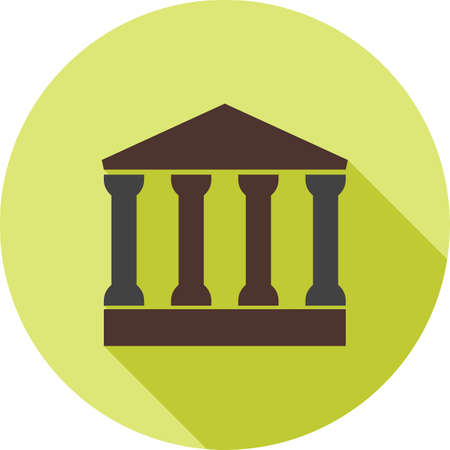 commercial law: Building, office, commercial icon vector image.Can also be used for law and order. Suitable for mobile apps, web apps and print media.