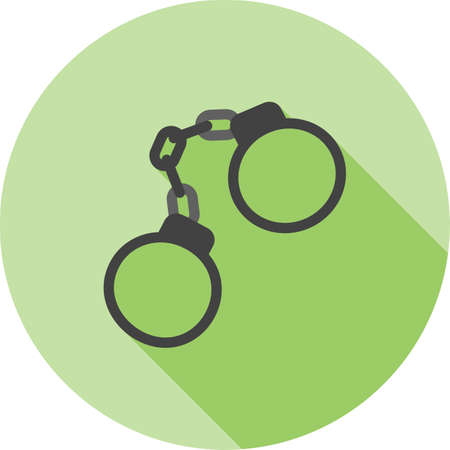 arrested criminal: Handcuffs, arrested, criminal icon vector image.Can also be used for law and order. Suitable for mobile apps, web apps and print media. Illustration