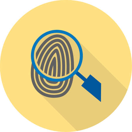 biometric: Fingerprint, print, unique icon vector image.Can also be used for law and order. Suitable for mobile apps, web apps and print media. Illustration