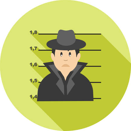 arrested: Criminal, handcuffs, arrested icon vector image.Can also be used for law and order. Suitable for mobile apps, web apps and print media. Illustration