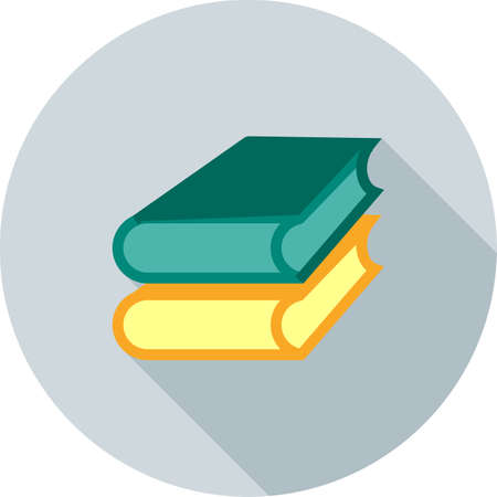 law library: Books, library, education icon vector image.Can also be used for law and order. Suitable for mobile apps, web apps and print media.