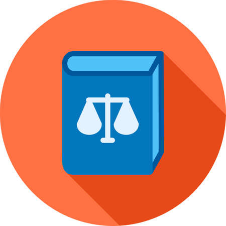 law books: Law, books, library icon vector image.Can also be used for law and order. Suitable for mobile apps, web apps and print media. Illustration