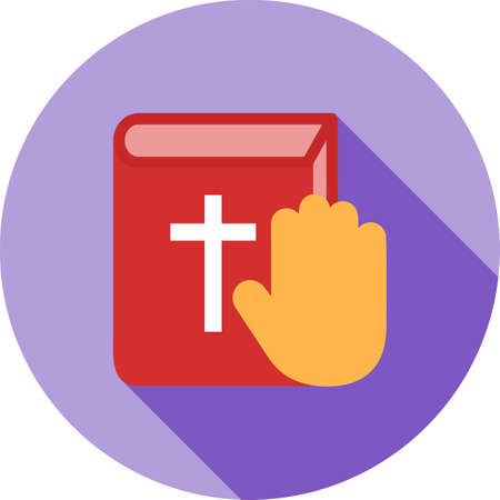 solemn: Oath, pledge, honesty icon vector image.Can also be used for law and order. Suitable for mobile apps, web apps and print media.