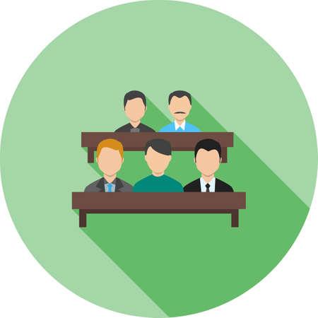 jurado: Jurado, sala de tribunal, icono abogado vector image.Can también ser utilizado para el orden público. Adecuado para aplicaciones móviles, aplicaciones web y medios impresos.