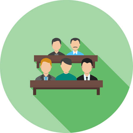 jury: Jury, courtroom, lawyer icon vector image.Can also be used for law and order. Suitable for mobile apps, web apps and print media.
