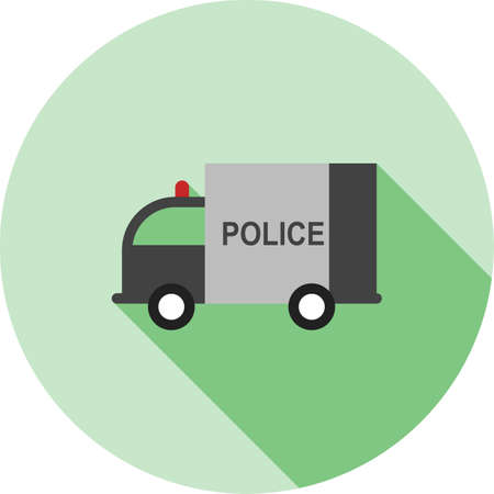 highway patrol: Police, car, van icon vector image.Can also be used for law and order. Suitable for mobile apps, web apps and print media.