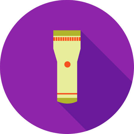 pocket flashlight: Flashlight, light, spotlight icon vector image.Can also be used for law and order. Suitable for mobile apps, web apps and print media. Illustration