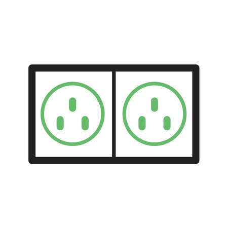 electric socket: Plug, electric, socket icon vector image.Can also be used for tools. Suitable for mobile apps, web apps and print media.