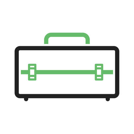 tool box: Tool, box, container icon vector image. Can also be used for tools. Suitable for use on web apps, mobile apps and print media. Illustration