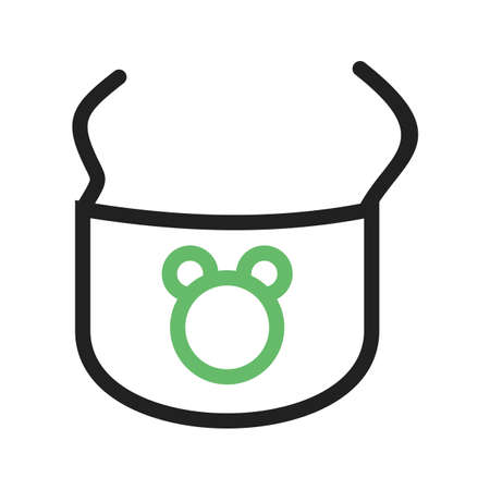 Bib, baby, clip icon vector image.Can also be used for baby. Suitable for mobile apps, web apps and print media.