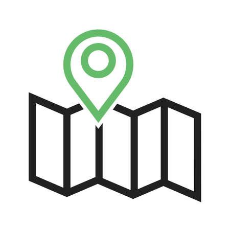 Kaart, navigatie, pictogram vector bestemming. Kan ook worden gebruikt voor kaarten en navigatie. Geschikt voor gebruik op het web apps, mobiele apps en gedrukte media.