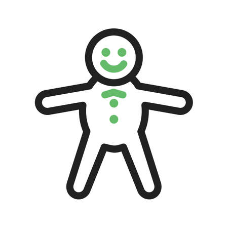 baked: Gingerbread, delicious, baked icon vector image. Can also be used for bakery. Suitable for use on web apps, mobile apps and print media. Illustration