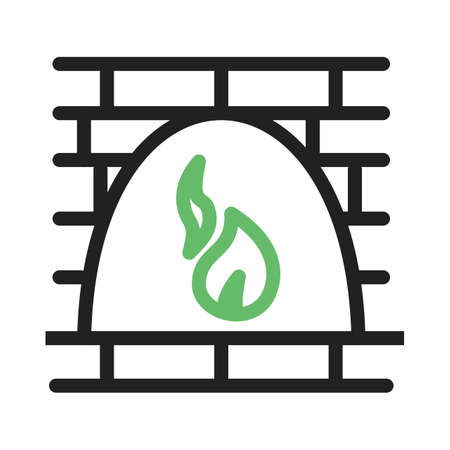 open flame: Fire, oven, wood icon vector image. Can also be used for bakery. Suitable for use on web apps, mobile apps and print media Illustration