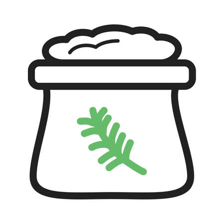oat: Flour, white, wheat icon vector image. Can also be used for bakery. Suitable for use on web apps, mobile apps and print media.