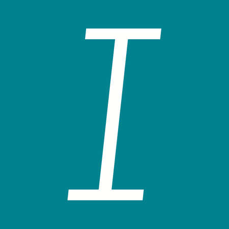 italic: Letter, italic, text icon vector image. Can also be used for text editing. Suitable for use on web apps, mobile apps and print media. Illustration