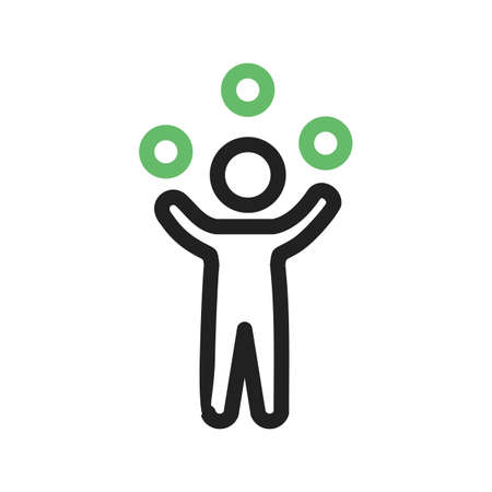 juggle: Juggling, juggler, balls icon vector image. Can also be used for outdoor fun. Suitable for use on web apps, mobile apps and print media.