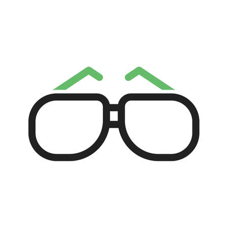 eye wear: Glasses, eye, wear icon vector image.Can also be used for photography. Suitable for mobile apps, web apps and print media.