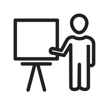 schooling: Professor, male, teacher icon vector image. Can also be used for schooling. Suitable for use on web apps, mobile apps and print media.