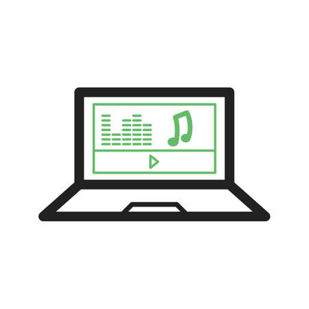 schooling: Music, play, piano icon vector image. Can also be used for schooling. Suitable for use on web apps, mobile apps and print media. Illustration