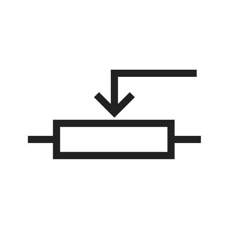 potentiometer: Potentiometer, control, effect icon vector image. Can also be used for electric circuits. Suitable for use on web apps, mobile apps and print media.