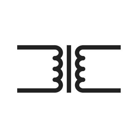 변압기, 회로, 전자 아이콘 벡터 이미지. 또한 전기 회로에 사용할 수 있습니다. 웹 앱, 모바일 앱 및 인쇄 매체에서 사용하기에 적합합니다.