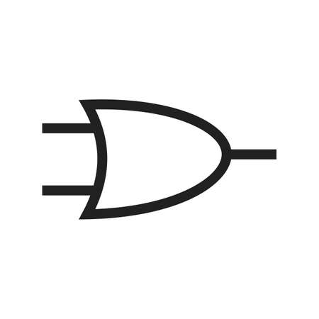 input devices: Circuit, component, electricity icon vector image. Can also be used for electric circuits. Suitable for use on web apps, mobile apps and print media.