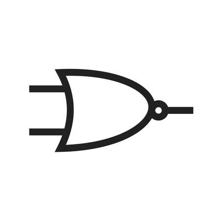 electronic components: Circuit, component, electricity icon vector image. Can also be used for electric circuits. Suitable for use on web apps, mobile apps and print media.