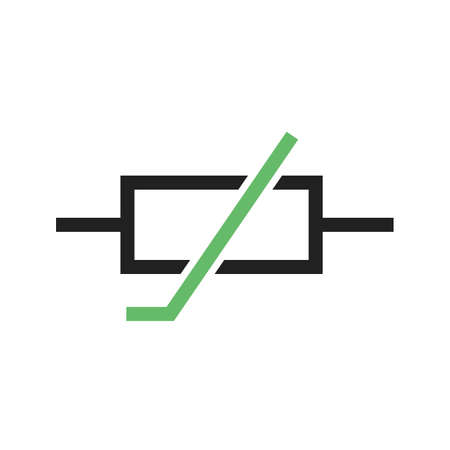 thermistor: Thermistor, resistor, ohms icon vector image. Can also be used for electric circuits. Suitable for use on web apps, mobile apps and print media.