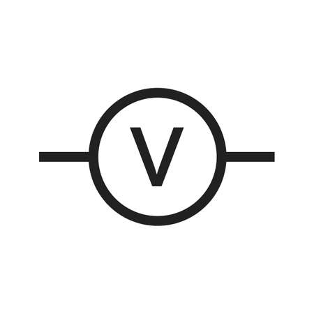 kilowatt: Voltmeter, meter, car icon vector image. Can also be used for electric circuits. Suitable for use on web apps, mobile apps and print media.