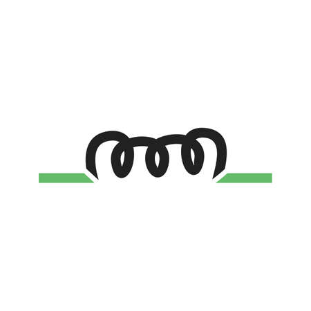 inductor: Copper, wire, inductor icon vector image. Can also be used for electric circuits. Suitable for use on web apps, mobile apps and print media.
