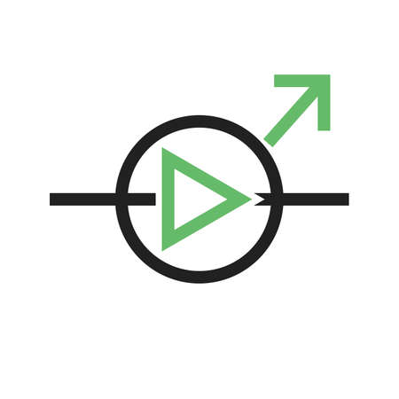 light emitting diode: Diode, equipment, light icon vector image. Can also be used for electric circuits. Suitable for use on web apps, mobile apps and print media. Illustration