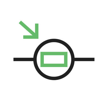 resistor: Light, circuit, resistor icon vector image. Can also be used for electric circuits. Suitable for use on web apps, mobile apps and print media.