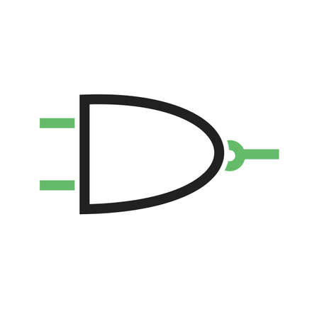 diode: Circuit, component, electricity icon vector image. Can also be used for electric circuits. Suitable for use on web apps, mobile apps and print media.