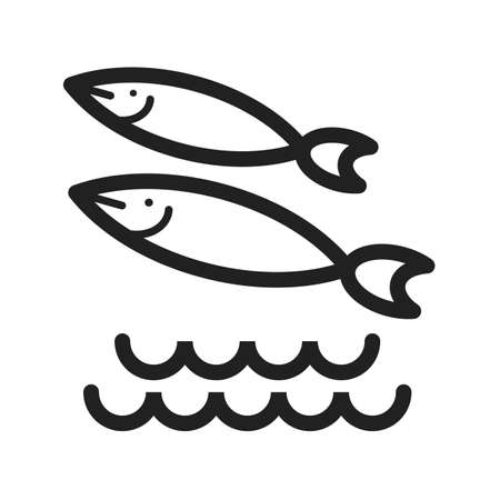 shoal: Fish, sea, swimming icon vector image. Can also be used for sea. Suitable for use on web apps, mobile apps and print media.