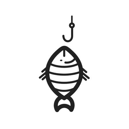 fisheries: Fish, fishing, fisherman icon vector image. Can also be used for sea. Suitable for use on web apps, mobile apps and print media.