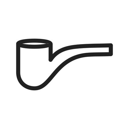 pipe smoking: Pipe, smoking, smoke icon vector image. Can also be used for hipster. Suitable for use on web apps, mobile apps and print media. Illustration