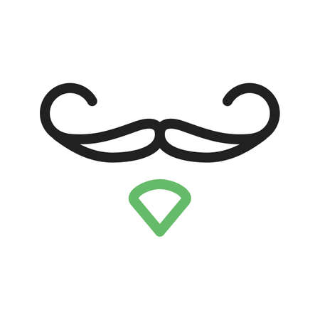 hair mask: Hipster, moustache, man icon vector image. Can also be used for hipster. Suitable for use on web apps, mobile apps and print media.