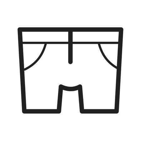 trousers: Shorts, trousers, summer icon vector image.Can also be used for hipster. Suitable for use on mobile apps, web apps and print media.