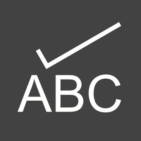 Vérifier, charme, orthographe icône vecteur image.Can également être utilisé pour l'édition de texte. Convient pour les applications mobiles, les applications Web et les médias imprimés.