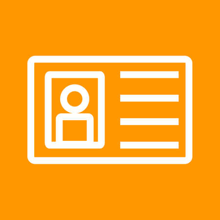 be the identity: Identity, card, authorization icon vector image.Can also be used for security. Suitable for web apps, mobile apps and print media.