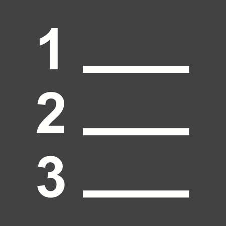 excel: List, number, option icon vector image. Can also be used for text editing. Suitable for use on web apps, mobile apps and print media. Illustration