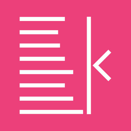 formatting: Text, right, align icon vector image. Can also be used for text editing. Suitable for use on web apps, mobile apps and print media. Illustration