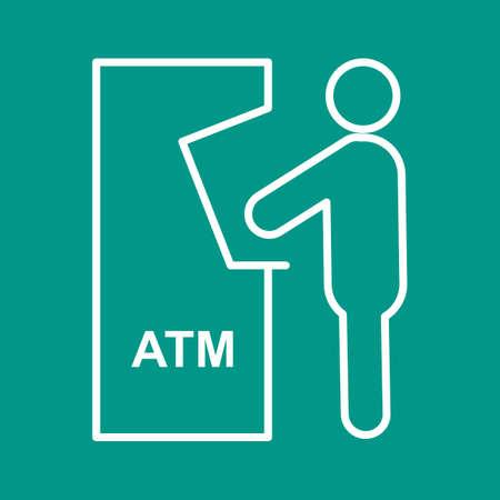 automatic transaction machine: Atm, la recepci�n, icono de la tarjeta vector de imagen. Tambi�n se puede utilizar para los seres humanos. Adecuado para su uso en aplicaciones web, aplicaciones m�viles y material de impresi�n.