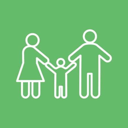 Los padres, la familia, la imagen del vector icono de niño. También se puede utilizar para los seres humanos. Adecuado para su uso en aplicaciones web, aplicaciones móviles y material de impresión.