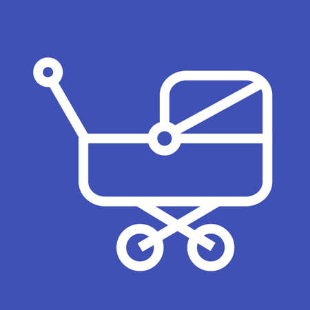 Pram, baby, stroller icon vector image. Can also be used for baby. Suitable for use on web apps, mobile apps and print media.